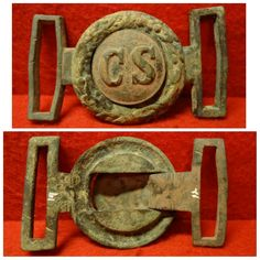 C.S. Richmond Style Tongue and Wreath Buckle-46x84mm-(Wreath ht. 49)-They Are A Marriage But Fit Very Well Together-Ex Ron Stonelake Collection.