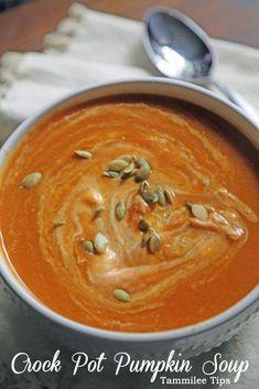 Slow Cooker Crock Pot Pumpkin Soup Recipe