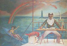 Balthus, Die Katze des Mittelmeeres, 1949, Öl auf Leinwand, 127 x 185 cm, Privatbesitz © Foto: MONDADORI PORTFOLIO/Bridgeman Images (Peter Willi) © Balthus 2016