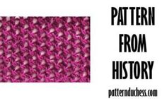 Pattern from history - Netting 1988 Knitting Blogs, Knitting Patterns, Swatch, History, Slippers, Dots, Tejidos, Tricot, Knit Patterns