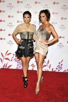 Eva Longoria Photos Photos - Eva Longoria Parker and Victoria Beckham pose for a picture at the Victoria Beckham and Eva Longoria Parker Night of Fashion & Technology with LG Phones event held at Soho House on May 24, 2010 in West Hollywood, California. - Victoria Beckham & Eva Longoria Parker Host A Night Of Fashion & Technology