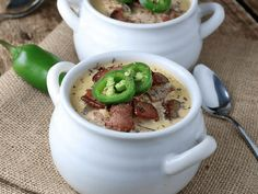 Bacon Jalapeno Cheddar Soup. Sign-up to our blog to receive awesome recipes like this weekly!