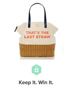 Kate Spade | That's The Last Straw ...I want this so badly I can't stand it