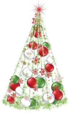 Transparent Christmas Tree Clipart | 3D CHRISTMAS PNG & CARDS ...
