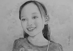 Acoustic Drawings The Shinji Ogata Gallery: A Girl with Smart Expression 利発そうな女の子