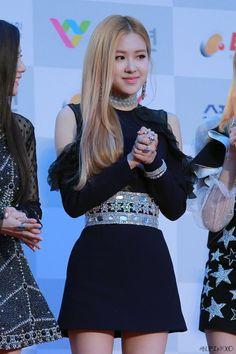 BLACKPINKOFFICIAL South Korean Girls, Korean Girl Groups, Lisa, Rose Park, Blackpink Photos, Park Chaeyoung, Pink Dress, Red Roses, Dress Skirt