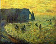 Claude Monet the rocks at Etretat