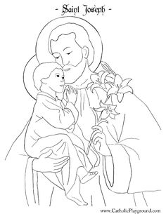 Saint Joseph Coloring Page | Catholic Playground