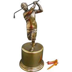 Fine Figural Golf Trophy - Small Class Act - 1939 Burns & Co. Golf Tournament #VintageSports  #rubylane