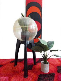 SPECIAL OFFER-large Mid century tripod base terrarium /