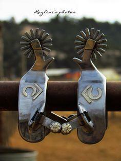 Lane Parry Custom Cowboy Spurs (Blanchard Style Spur Maker) - Click image to visit his website.