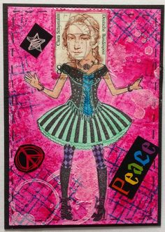 by Solvey: ATC - Junkie : Postage People Swap
