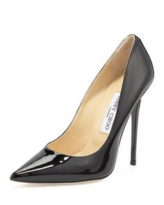 Anouk+Patent+Leather+Pump,+Black+by+Jimmy+Choo+at+Neiman+Marcus.
