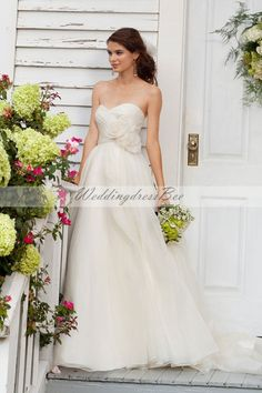 sweetheart empire waist organza wedding dress
