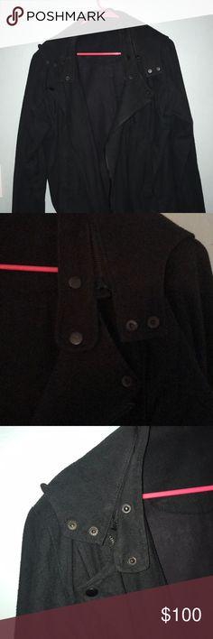 Black cotton jacket Barely worn black jacket . comune Jackets & Coats Bomber & Varsity