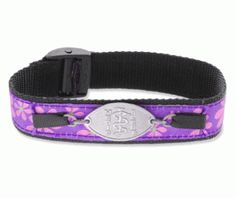 Purple Flower Sports Band Medical Id Bracelet Perfect For Showing Off Your Y Side