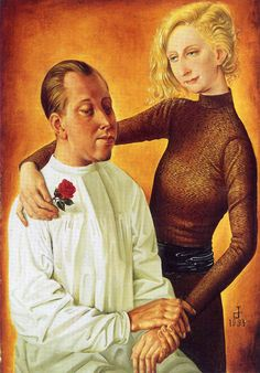 fishstickmonkey:  Portrait of the Painter Hans Theo Richter and his wife Gisela Otto Dix, 1933WikiArt