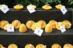 30 BEESWAX Floating Sunflower  Bee CANDLES, Wedding Favors, Candle Wedding favor, Party Favor, Beeswax Candles- Farmer's Daughter