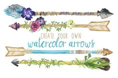 Create Your Own Watercolor Arrows - Illustrations