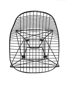 Eames wire chair: