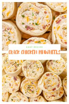 Stop what you are doing and add these Crack Chicken Pinwheels to your tailgate menu this weekend! Tortillas stuffed with cream che. Appetizers For Party, Appetizer Recipes, Snack Recipes, Dessert Recipes, Desserts, Health Recipes, Bread Recipes, Chicken Breakfast, Breakfast Recipes