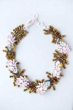 100% Authentic J.CREW PALM NECKLACE item e3534 #JCREW #statement necklace #necklace #jewellery #fashion #accessory