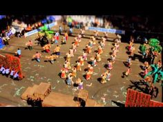 Iloilo Dinagyang Festival in tilt shift mode