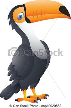 tucan outline | Vector - Toucan Bird Cartoon - stock illustration, royalty free ...