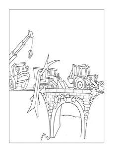Byggmester Bob Fargelegging for barn. Tegninger for utskrift og fargelegging nº 17