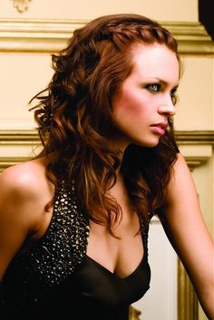 long brown braid l  wavy hairstyles  by Maurice Meadew  For #hairstyles & advice visit us   WWW.UKHAIRDRESSERS.COM