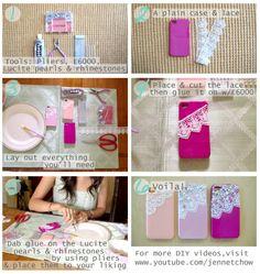 DIY :  LACE PHONE CASE