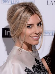 Mollie King hair up hairstyle instyle red carpet