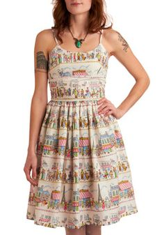 Year Abroad Dress, #ModCloth (Oooo! I have that fabric!)
