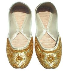 Indian Bridal Shoes Indian Wedding Shoes Women'S Khussa Flat Shoes Beaded Shoes | eBay