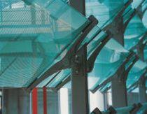Für den Neubau des Max-Planck Instituts, Dresden, entwickelt: Filigrane Aufnahmekonsole für Sonnenschutz- und Tageslicht-Lenksysteme (Fotos: ADO)