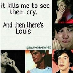 But, seriously, I hate to see any of them cry. Louis included. It's heartbreaking.
