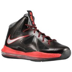 lowest price 44cf3 5ffee Nike Lebron X - Boys  Grade School - Basketball - Shoes -  Black Chrome University Red Cool Grey