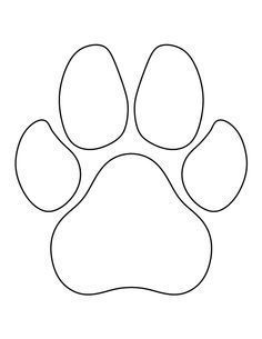 Dog Paw Print Pattern. Use The Printable Outline For Crafts, Creating  Stencils, Scrapbooking