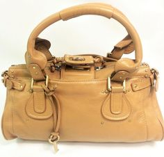 Authentic Chloé Paddington Tan Leather Shoulder Handbag Satchel | eBay