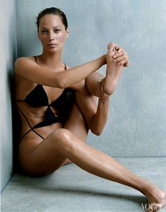 Weird shot, totally dig it. Christy Turlington Vogue, October 2002