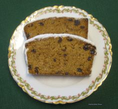 Black Cake, a lighter version of Fruit cake, certainly doesn't sound as festive as Christmas Cake or Plum Pudding.  Not only does it not sound festive, black cake doesn't sound too appetizing with thoughts of burnt cookies.  The slices are from an 1846 Maryland recipe.