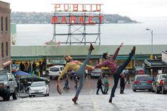 Sarah Pasch and Eric Hipolito, Jr. in an image from Jordan Matter's book, Dancers Among Us.