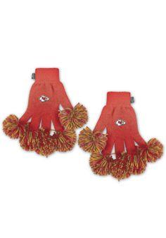 Kansas City Chiefs Spirit Finger Womens Gloves  587e7bf37