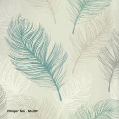 Whisper teal Behangpapier  669801 veren