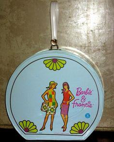 Barbie & Francie Hat Box Case Mod Vintage 1965