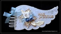 angel wing chipboard album, silent night