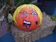 Pumpkin Face Paint, A Pumpkin, Pumpkin Carving, Pumpkin Painting, Halloween Pumpkins, Halloween Ideas, Halloween Decorations, Painted Pumpkins, Painted Pumpkin Faces