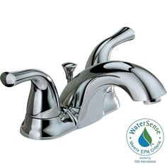 Delta Classic 4 in. Centerset 2-Handle Bathroom Faucet with Metal Drain Assembly in Chrome-2520LF-A-ECO - The Home Depot