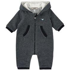 Risultati immagini per armani junior neonato  tutina in cotone felpato