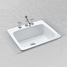 "CECO Windansea 25"" x 22"" x 9.75"" Cast Iron Single Bowl Self-Rimming Kitchen Sink at Menards®: CECO Malibu 757 25"" x 22"" x 9 3/4"" Cast Iron Single Bowl Self-Rimming Kitchen Sink"